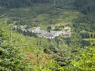 Strathyre village in Stirling, Scotland, UK