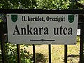 Street sign, Ankara street, 2018 Budapest.jpg