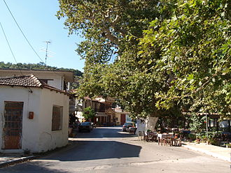 Stylos - The village in summer.