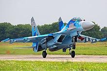 موسوعة طائرات السوخوي - صفحة 2 220px-Sukhoi_Su-27UB_Belyakov