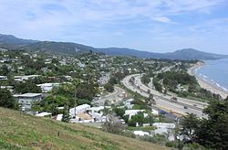 Summerland, as seen from the top of Ortega Hill, 2006