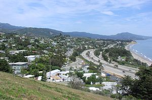 Summerland, California - Summerland, as seen from the top of Ortega Hill, 2006