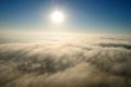 Sun over clouds over Canberra.JPG