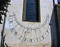 Sundial of st bartholomew church in brasov.JPG