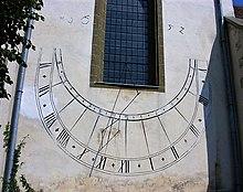 photograph of a church sundial