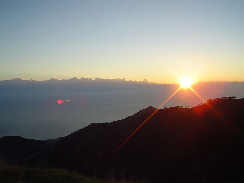 File:Sunset in Monte Fasce, Italy.jpg