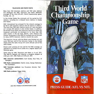 Super Bowl III - Super Bowl III media guide