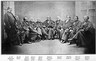 Willard v. Tayloe - The members of the Chase Court in 1868.