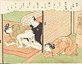 Suzuki Harunobu (1769) Fūryū Zashiki Hakkei - Tokei banshō, cropped.jpg