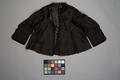 Svart tröja i sidenrips med foder i sidenmoiré - Livrustkammaren - 86715.tif