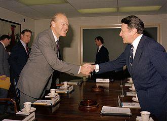 Svenn Stray - Stray (left) meeting US Secretary of Defense Caspar Weinberger at The Pentagon in 1981.