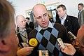 Sveriges statsminister Fredrik Reinfeldt under presskonferens vid globaliseringsmotet i Riksgransen 2008-04-09 (3).jpg