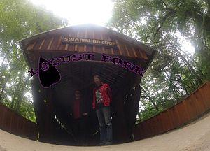 Swann Covered Bridge - The Alabama doom metal band Locust Fork in front of Swann Covered Bridge May, 2014.