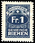Switzerland Riehen 1907 revenue 1Fr - 2B.jpg