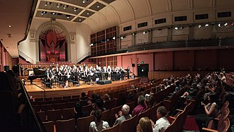 Sydney Conservatorium of Music - The Sydney University Wind Orchestra (SUWO) performing inside the Verbrugghen Hall