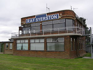 RAF Syerston - The air traffic control tower in 2006