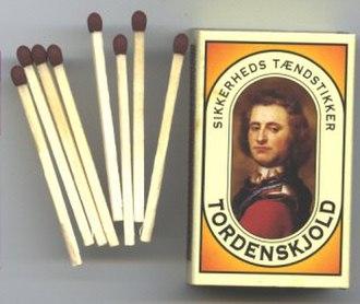 Peter Tordenskjold - Tordenskjold brand matchbox.