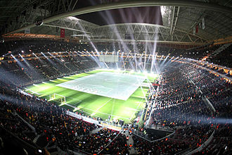 Zumtobel Group - Türk Telekom Arena in Istanbul illuminated by Thorn