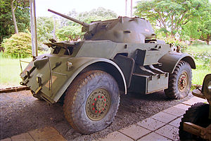 T17 (armored car) - Staghound of the Rhodesian Armoured Corps.