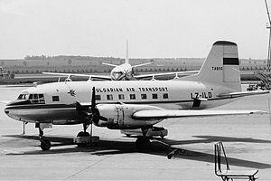 Balkan Bulgarian Airlines - TABSO VEB-14P at Vienna. (1962)