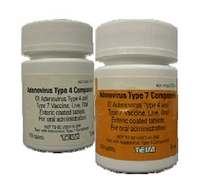 Adenovirus vaccine - Bottles of the vaccine.
