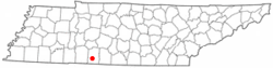 Location of Loretto, Tennessee