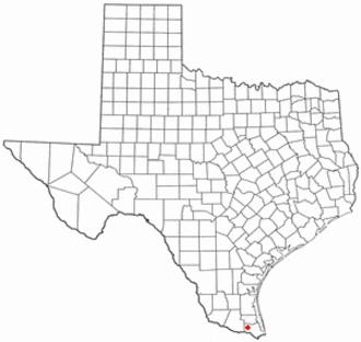 Palm Valley, Cameron County, Texas - Image: TX Map doton Palm Valley