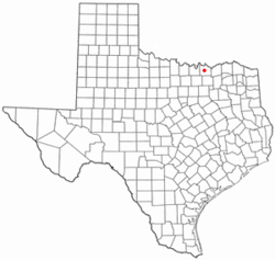 Location of Southmayd, Texas