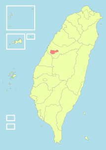 Taiwan ROC political division map Taichung City.svg