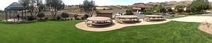 Edna Valley AVA - Panorama of Talley Vineyards, located along Lopez Drive in the heart of the Edna Valley AVA.