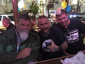Tank Abbott - Abbott (left) with fans, 2015