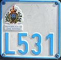 Targa automobilistica San Marino 1993 L531 motocicletta.jpg