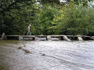 River Barle - Tarr Steps viewed downstream