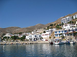 Tilos - View of Livadia village in Tilos island