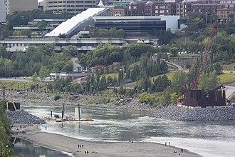 Valley Line (Edmonton) - Tawatinâ Bridge under construction