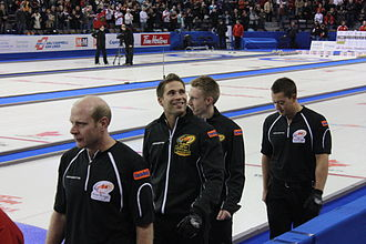 Kevin Martin (curler) - From left: Martin, John Morris, Marc Kennedy, Ben Hebert at the 2009 Canadian Olympic Curling Trials
