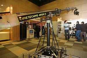 Crane shot - Telescopic operator crane