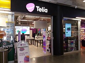 Telia Company - A Telia Finland store in Tikkurila, Vantaa.