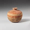 Terracotta aryballos (oil flask) in the form of a pomegranate MET DP130745.jpg