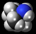 Tert-Butylamine molecule spacefill.png