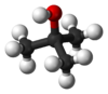 Ball and stick model of tert-butanol