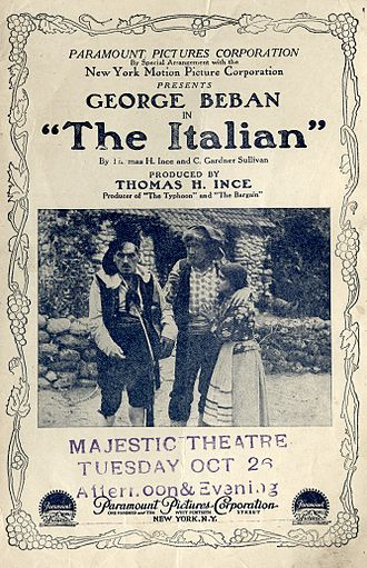 The Italian (1915 film) - Contemporary pamphlet for the film