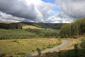 B4574 road - The B4574 heading to Cwmystwyth