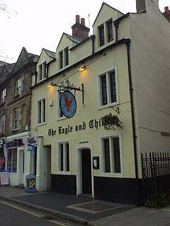 The Eagle and Child pub in St Giles Street, Oxford, England