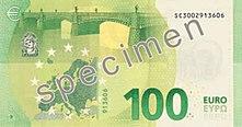 100 euros, back