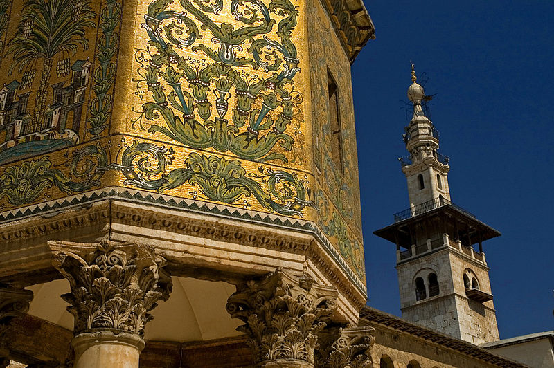 Minaret of Qayt Bey, The Great Umayyed Mosque of Damascus, Syria - 1