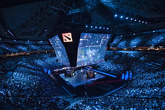 The International 2015 - The International 2015 grand final in the KeyArena in Seatle.