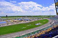 Picture of Kansas Speedway, showing the frontstrech
