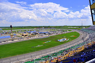 Kansas Speedway - The front stretch and infield of Kansas Speedway