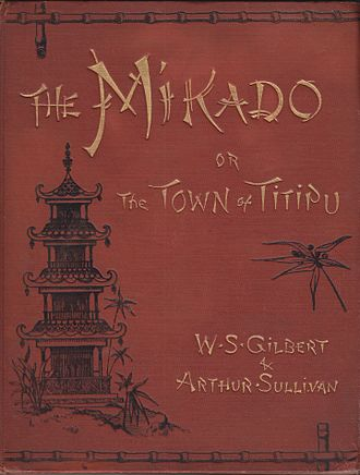 The Mikado - Cover of vocal score, c. 1895